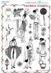 Chocolate Baroque Fabulous Flappers Rubber Stamp